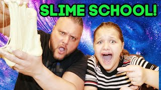 TEACHING MY DAD HOW TO MAKE SLIME! STUCK AT HOME CHALLENGE