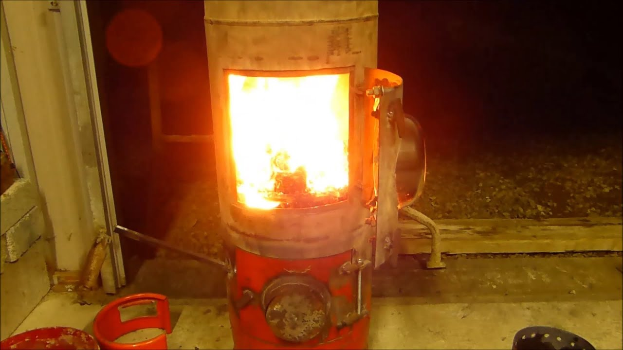how to make an oil burning stove