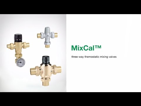 MixCal™ - 3-way Thermostatic Mixing Valves - YouTube