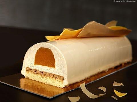 Bûche Zéphyr caramel et gelée d'abricots