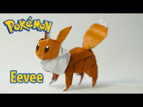 Paper Pokemon - Origami Eevee 2.0 - イーブイ tutorial (Henry Phạm)