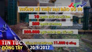 Thiệt hại do bão số 10 lên đến 11 ngàn tỷ đồng | TIN TỨC ĐÔNG TÂY - 20/9/2017