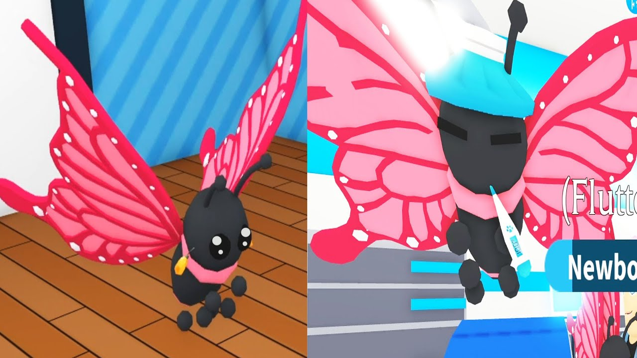 New Adopt Me Butterfly Pet with Dollastic and MicroGuardian