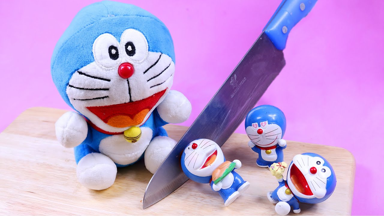 Stop motion Animation Doraemon Cooking - Funny Story ASMR Eating 4K
