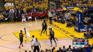 Portland Trail Blazers vs Golden State Warriors   1st Half Highlights   G2   Apr 19 2017 NBA Playoff