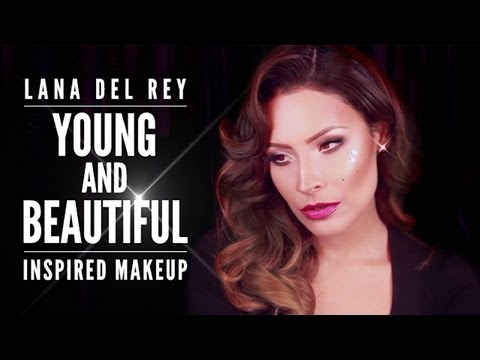 lana del rey young and beautiful inspired makeup  youtube