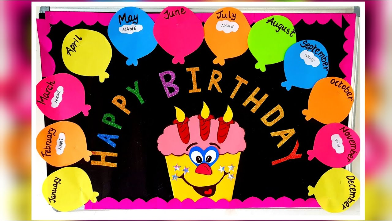Birthday Bulletin Board Idea For Class Rooms Birthday Bulletin Chart Idea Youtube