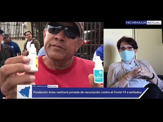 Fundación Arias prepara jornada de vacunación contra el Covid-19 a nicaragüenses exiliados