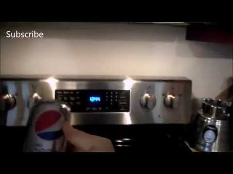 Putting a Can of Diet Pepsi In The Microwave! [MUST SEE]