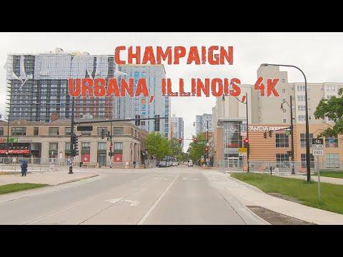 A Bright Spot On The Illinois Prairie: Champaign-Urbana, Illinois 4K.