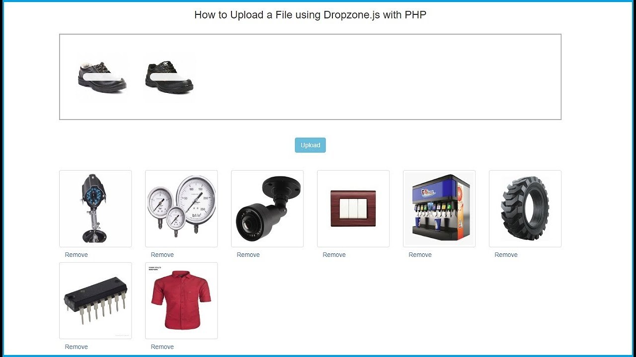 File Upload using Dropzone js with PHP