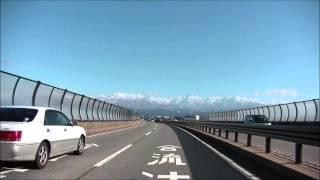 2016年1月1日 新湊大橋から立山あるぺん村 バイク車載