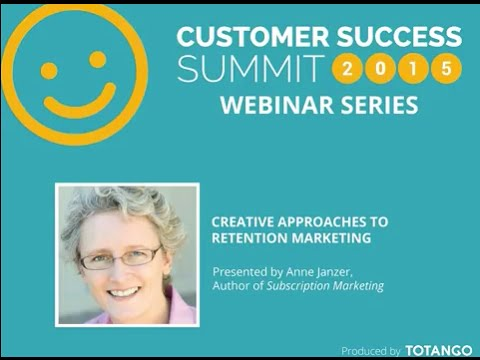 Creative Approaches to Retention Marketing featuring Anne Janzer