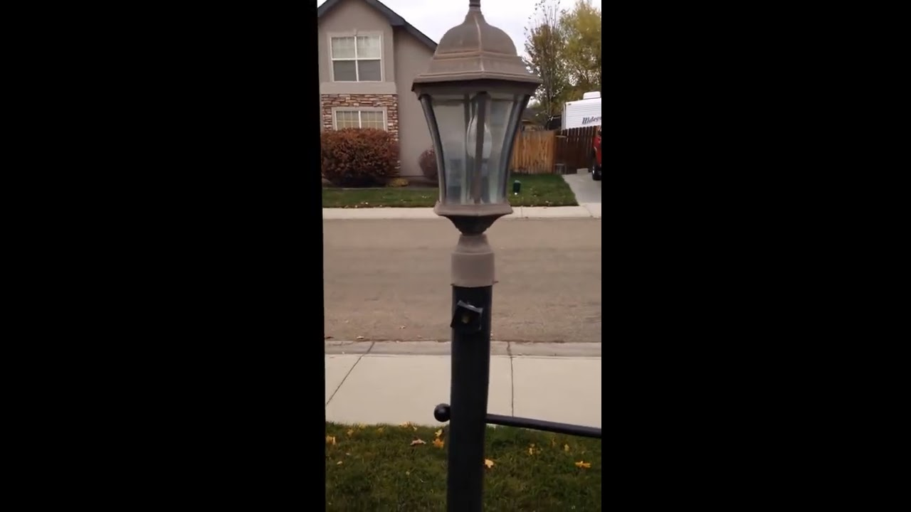 how to replace the light sensor switch in an outdoor lamp the easy way  [ 1280 x 720 Pixel ]