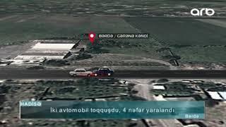 İki avtomobil toqquşdu, 4 nəfər yaralandı.