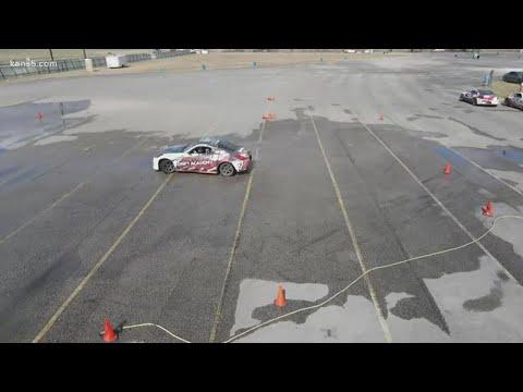 Barry Davis from KENS5 covers Texas Drift Academy
