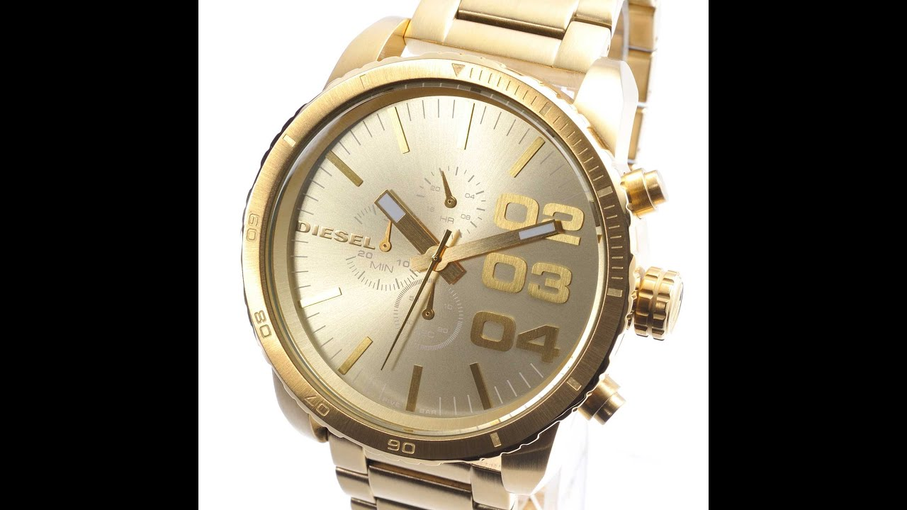 e9bf503485a DIESEL DZ4268 WATCH DOUBLE DOWN GOLD COLOR CHRONOGRAPH REVIEW MENS DZ4268  ディーゼル ゴールド レビュー メンズ