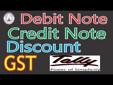 Tally ERP 9-GST Accounting with Debit Note, Credit Note, Discount Paid,Discount Receive(Hindi)Part-7