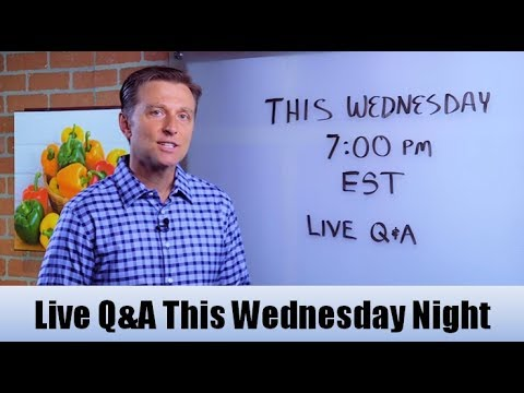 Live Q & A with Dr. Berg (This Wednesday June 7, 7:00 pm EST)