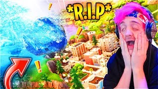 "Ninja & Streamers React To Tilted Towers Being DESTROYED! Loot Lake *LIVE EVENT* ""UNVAULT"" Event"