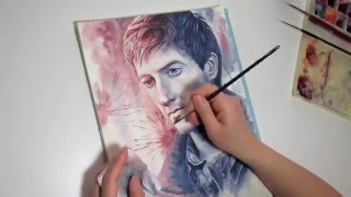 Watercolor painting process: Rory Williams