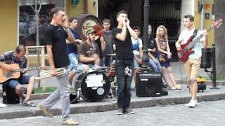 Одесса, Дерибасовская. CLC BAND, Blur - Song 2 Trumpet Cover