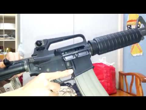 GHK M16A2 Carbine GBB CUSTOM TEST ( Airsoft ) - YouTube