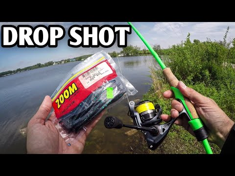 Drop Shot & Spinnerbait Fishing - Bass Fishing After A Storm (Zoom Finesse Worm)