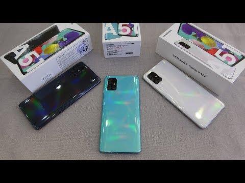 Samsung Galaxy A51 colors unboxing   camera, fingerprint, face unlock tested