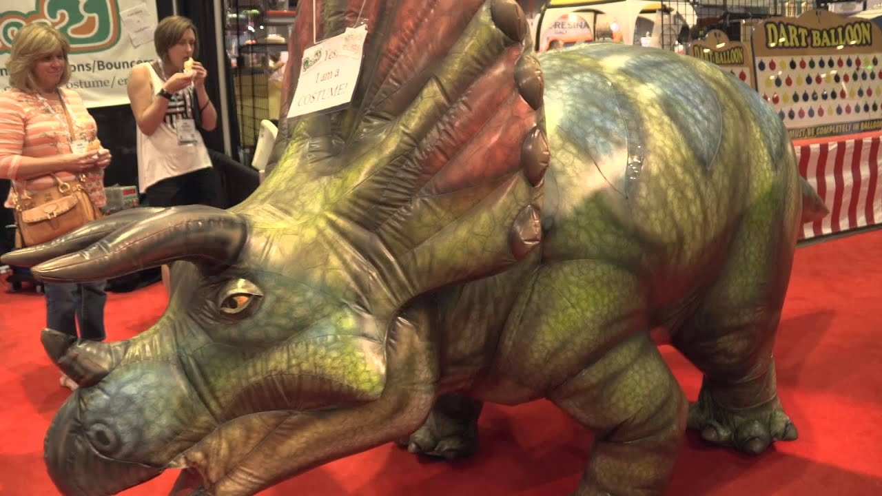 & Amazing Inflatable Dinosaur Costume (IAAPA2015) - YouTube