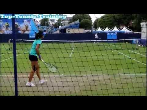 Na Li Training 2013 HD (Court Level View)