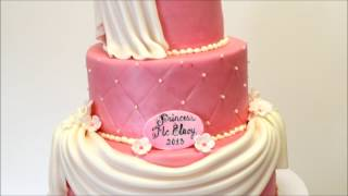 Princess Theme Birthday Cake - Pink And White Birthday Cake