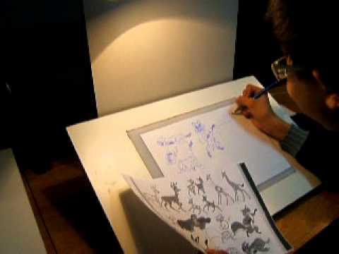 Mesa de dibujo animaci n iluminados 1 youtube - Mesa de dibujo para arquitectura ...