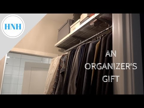 Changing Our Elfa Closet & Chatty Gift Wrapping for Vlogmas