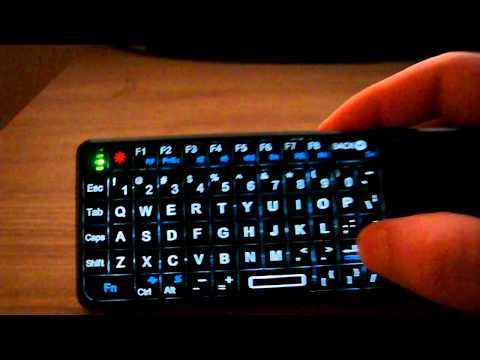 Rii mini backlight function (Logitech Dinovo Mini alternative)