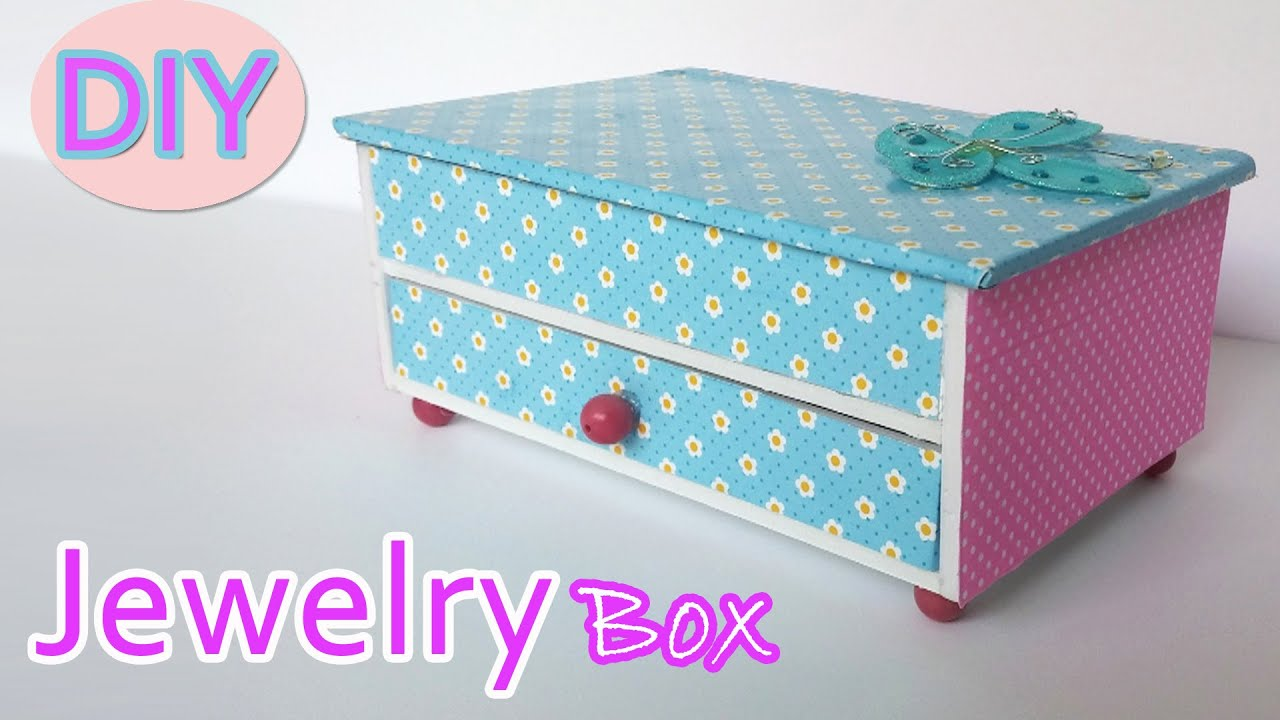 How to make a Jewelry box Ana DIY Crafts YouTube