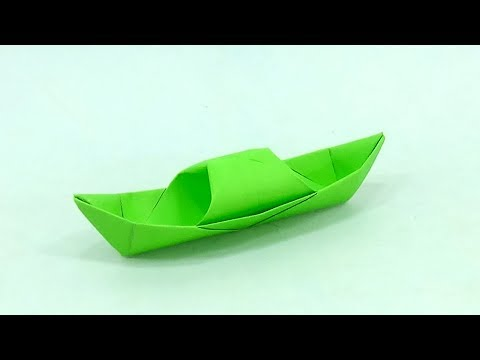 DIY Easy Paper Speed Boat | How To Make A Paper Boat Easy | Origami Boat Making Tutorial