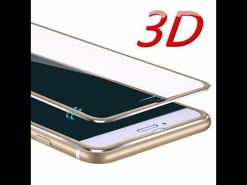 e603c2331ea Pelicula de vidro temperado com borda de metal 3d Iphone 6 6S - conhecendo  e aplicando
