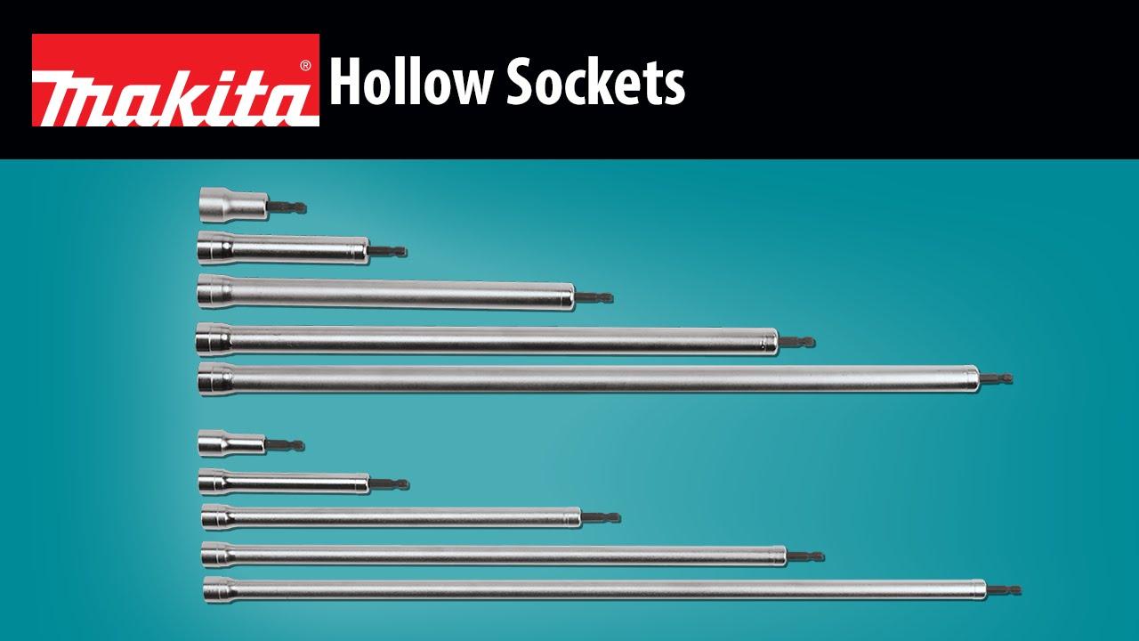 """Makita B-43321 Hollow Socket 1//4/"""" Hex Drive 9//16/"""" x 18/"""" long"""