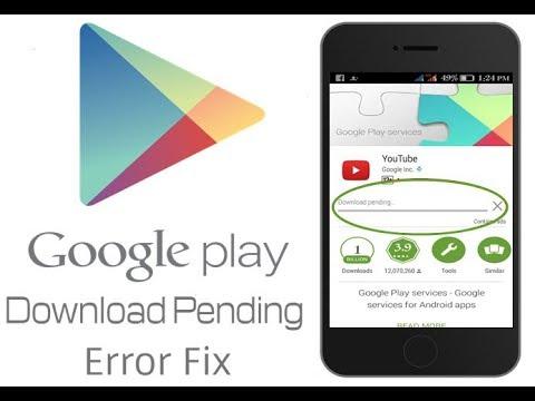 play store download pending stuck