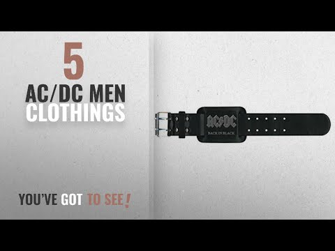 Top 10 Ac/Dc Men Clothings [ Winter 2018 ]: AC/DC Leather Wristband - Back In Black