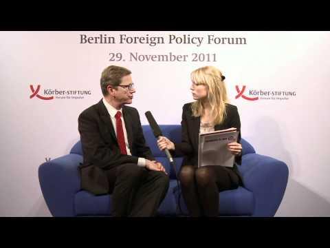 Berliner Forum Außenpolitik 2011: Guido Westerwelle