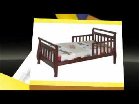 DaVinci Sleigh Toddler Bed Ebony Cherry White