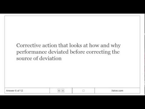 Introduction to Management - 14. Foundations of Control - Flashcards