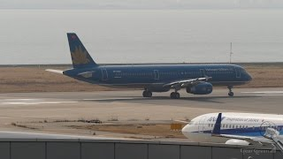 ベトナム航空 エアバスA321-200 関西国際空港 ランウェイ24レフト 離陸 ...