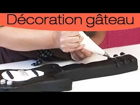 faire un gateau en forme de guitare youtube. Black Bedroom Furniture Sets. Home Design Ideas
