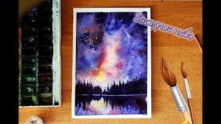 Рисуем звездное небо.Drawing the starry sky