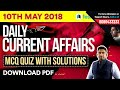 #9 : 10th May Current Affairs - Daily Current Affairs Quiz | SSC |  Banking |RRB