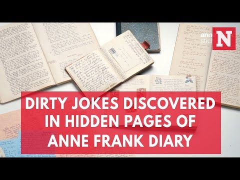 Dirty Jokes Discovered In Hidden Pages Of Anne Frank Diary