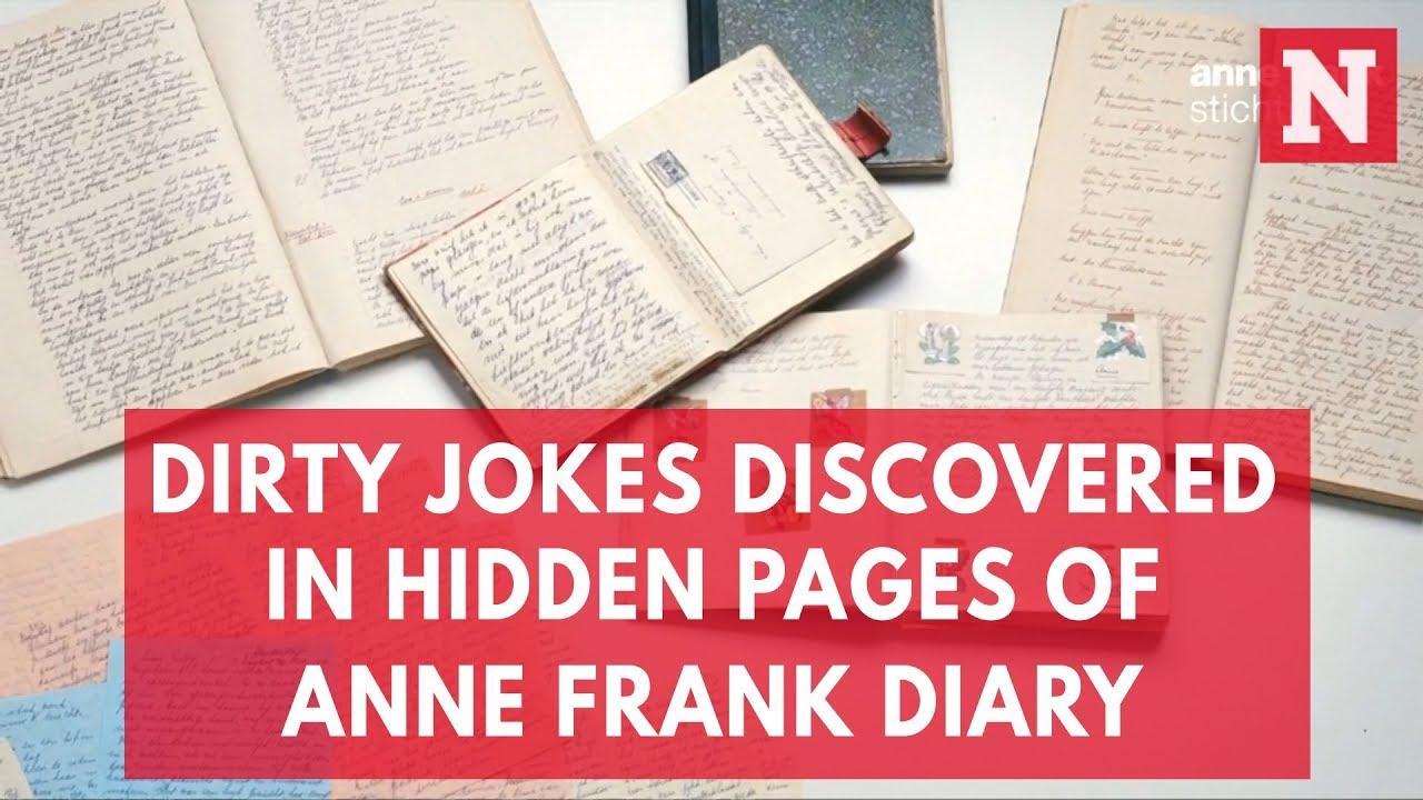Dirty Jokes Discovered In Hidden Pages Of Anne Frank Diary Youtube